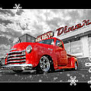 Festive Chevy Truck Poster