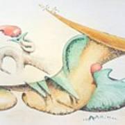 Festive Horn Poster