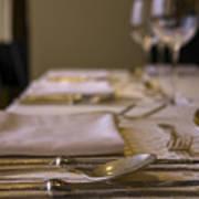 Festive Table Setting For A Formal Dinner  Poster