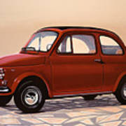 Fiat 500 1957 Painting Poster