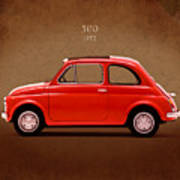 Fiat 500 R 1972 Poster