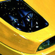 Fiat Coupe In Yellow Poster