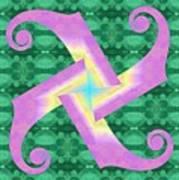 Fiddle-head Pattern Poster