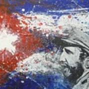 Fidel Castro Cuban Flag Poster