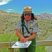 Field Archeologist Ranger In Quarry In Dinosaur National Monument, Utah  Poster