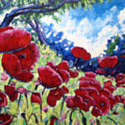 Field Of Poppies 02 Poster