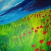 field of Poppies 2 Poster