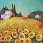 Fields Of Tuscany Poster