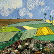 Fields To Gogh Poster