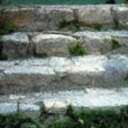 Fieldstone Stairs New England Poster