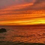 Fiery Makena Sunset Poster
