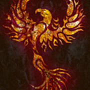 Fiery Phoenix Poster