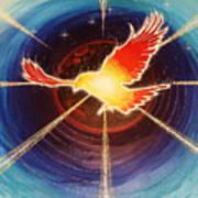 Fiery Raven Poster