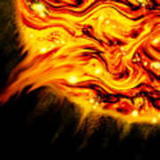 Fiery Sun Erupting With M1.7 Class Solar Flare Poster