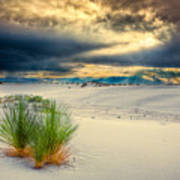 Fiery Sunrise At White Sands Poster