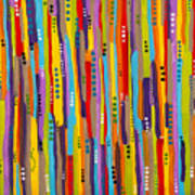 Fiesta Abstract Poster