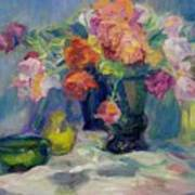 Fiesta Of Flowers - Vibrant Original Impressionist Oil Painting Poster