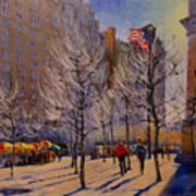 Fifth Avenue - Late Winter At The Met Poster