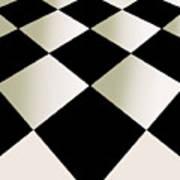 Fifties Kitchen Checkerboard Floor Poster