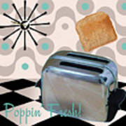 Fifties Kitchen Toaster Poster