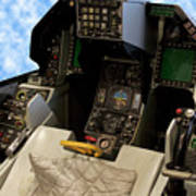Fighter Jet Cockpit 01 Poster