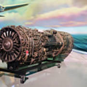 Fighter Jet Engine Poster
