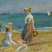 Figures On The Beach, 1890 Poster
