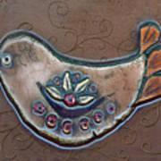 Filigree Bird Poster