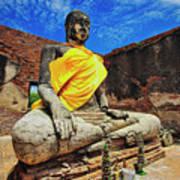 Finding, Not Seeking At Wat Worachetha Ram In Ayutthaya, Thailand Poster
