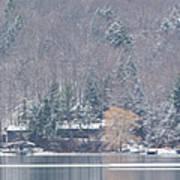 Finger Lakes Winter Panorama Poster