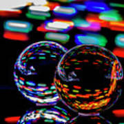 Finger Light Painted Glass Ball Abstract Poster