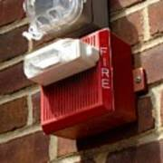 Fire Alarm Horn And Strobe Poster