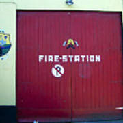 Fire Door In Macroom Ireland Poster