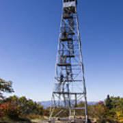 Fire Watch Tower Overlook Mountain Poster