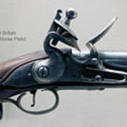 Firearms 1746 British Flintlock Horse Pistol Poster