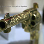 Firearms Gold Colt Single Action Army 45cal Revolver Poster