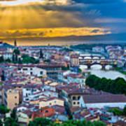 Firenze Sunset Poster