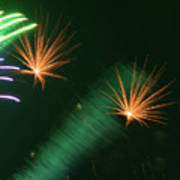 Firework Abstract Poster