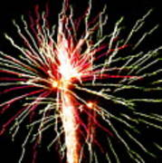 Firework Pink And Green Streaks Poster