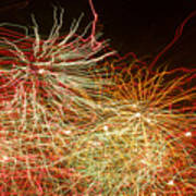 Fireworks Abstract IIi Poster