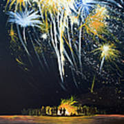 Fireworks Bonfire On The West Bar Poster