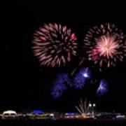 Fireworks Bursts Over Chicago Poster