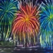 Fireworks Explode Poster