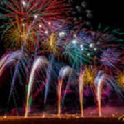 Fireworks Line Poster