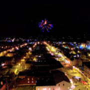 Fireworks Over Hudson Poster