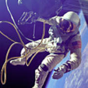 First American Walking In Space, Edward Poster
