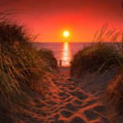 First Encouter Beach Sunset September 2017 Poster