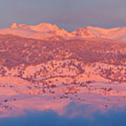 First Light Colorado Rocky Mountains Panorama Poster
