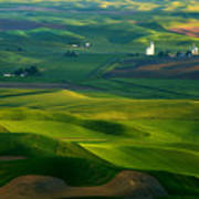 First Light On The Palouse Poster