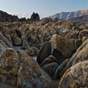 First Light Over Alabama Hills California Poster